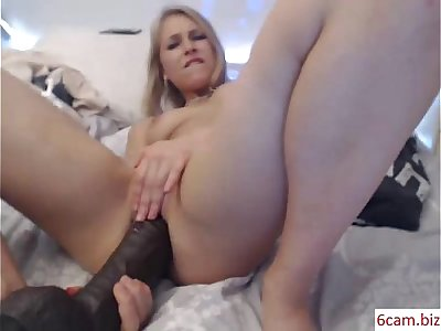 "Small Teen forces 14"" Cock in Loose Holes***  girls4cock.com"