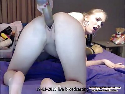 Webcam Blond With A Dildo DoggyStyle —  —  www.girls4cock.com/siswet19
