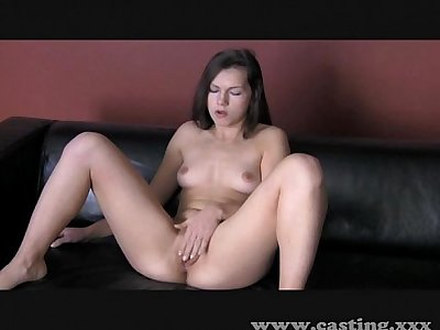 Casting - Teen really warms to the cock