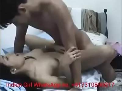 Indian Desi Couple First Time Sex in Room Bed